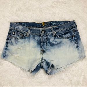 Seven for all mankind distressed destroyed cutoffs